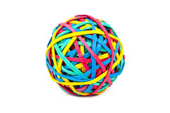 Rubber (Elastic) Band Ball Stock Images