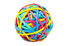 Rubber (Elastic) Band Ball Royalty Free Stock Photos