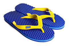Rubber embed with plastic sandal or slipper product isolated on Stock Images
