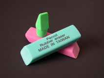 Rubber Erasers - Made in Taiwan Stock Image