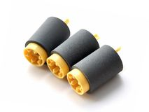 Rubber Feed Roll for Paper Feed Royalty Free Stock Photo