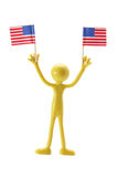 Rubber Figure with American Flags Royalty Free Stock Image