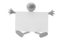 Rubber Figure with Blank Card Royalty Free Stock Photo