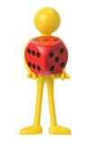 Rubber Figure with Dice Royalty Free Stock Image