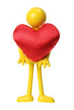 Rubber Figure with Love Heart Stock Image