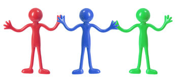 Rubber Figures Stock Photography