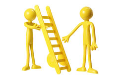 Rubber Figures with Ladder Stock Photos
