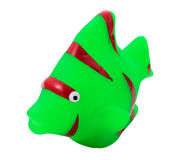 Rubber fish. A fish of green rubber toy for the bathroom and isolated trimmed Stock Photos