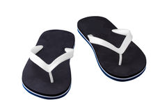 Rubber flip flops. On a white background royalty free stock image