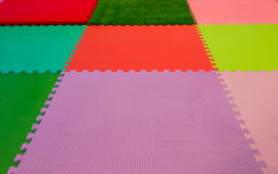 rubber foam for baby play in playroom Stock Photography