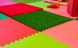 rubber foam for baby play in playroom Stock Image