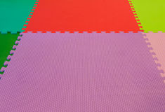 rubber foam for baby play in playroom Royalty Free Stock Images