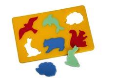 Rubber foam puzzle - wild Stock Photo