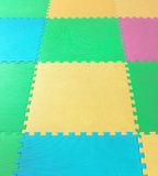Rubber foam Puzzles. For background Royalty Free Stock Photo