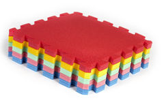 Rubber foam toy puzzle Royalty Free Stock Image