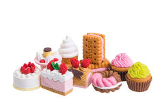 Rubber food toys Stock Photo