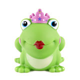 Rubber frog with big red lips. Royalty Free Stock Photo