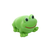 A rubber frog isolated on white Stock Photos