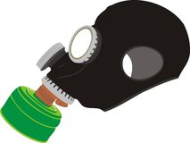 Rubber gas mask Stock Image