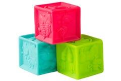 Rubber geïsoleerdeR kubussen Royalty-vrije Stock Foto's