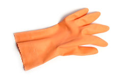 Rubber glove. On white background Royalty Free Stock Image