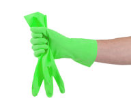 Rubber glove isolated Stock Photo