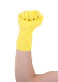 Rubber glove, making fist Royalty Free Stock Photos