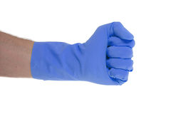 Rubber glove, making fist Royalty Free Stock Photo