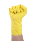 Rubber glove, making fist Stock Photo