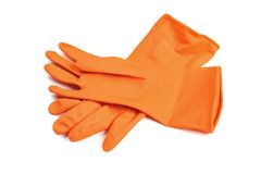 rubber glove Stock Images