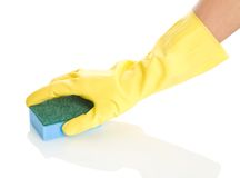 Rubber Glove with Sponge Stock Images