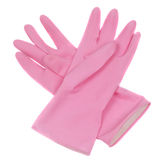 Rubber gloves stock photo