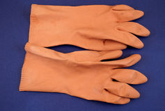 Rubber gloves Stock Images