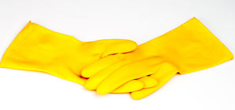 Rubber gloves Stock Photos