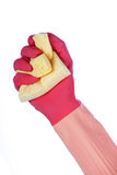 Rubber gloves and sponge Royalty Free Stock Images