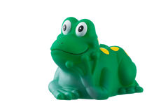 Rubber green frog isolated on white Royalty Free Stock Photography