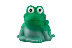 Rubber green frog isolated on white Royalty Free Stock Image