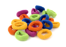 Rubber hair. Elastic for the hair in various colors Royalty Free Stock Images