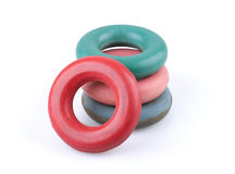 Rubber hand rings trainers Royalty Free Stock Photo