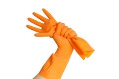 Rubber handschoen Royalty-vrije Stock Foto's