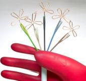 Rubber handschoen Stock Foto