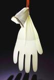Rubber Handschoen met Water stock afbeeldingen