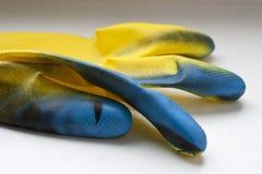 Rubber Handschoenen Stock Afbeelding