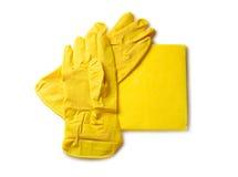 Rubber handschoenen Stock Foto