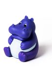 Rubber hippopotamus. Against the white background (isolated image Royalty Free Stock Image