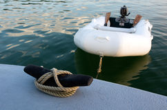 Rubber inflatable dinghy boat Royalty Free Stock Images