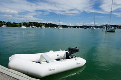 Rubber inflatable dinghy boat Royalty Free Stock Photo