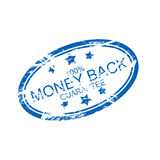 Rubber ink stamp: money back. A rubber ink stamp 'money back' isolated on background Royalty Free Stock Photography