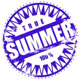 Rubber ink stamp: Summer Stock Photography