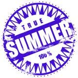 Rubber ink stamp: Summer. Illustration of a grunge rubber ink stamp: Summer Stock Photography